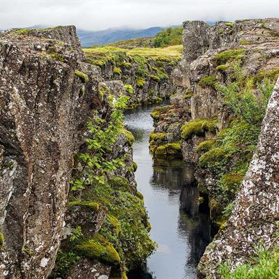 Þingvellir National Park in South Iceland