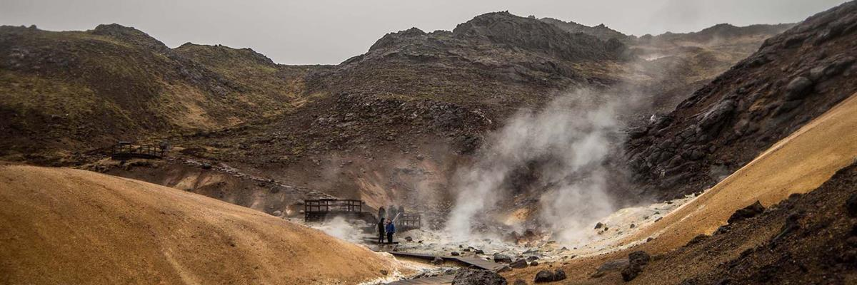 Seltún Geothermal Area in Iceland