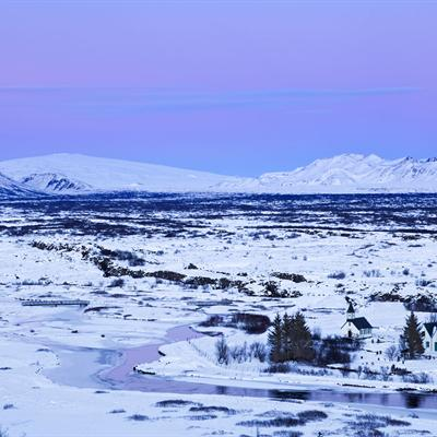 Þingvellir during Winter
