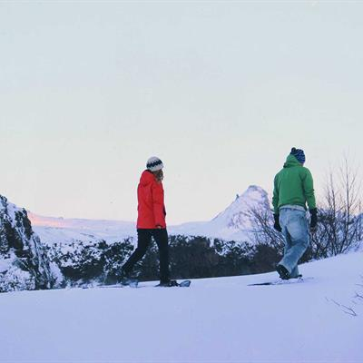 Snowshoe Hike in Iceland